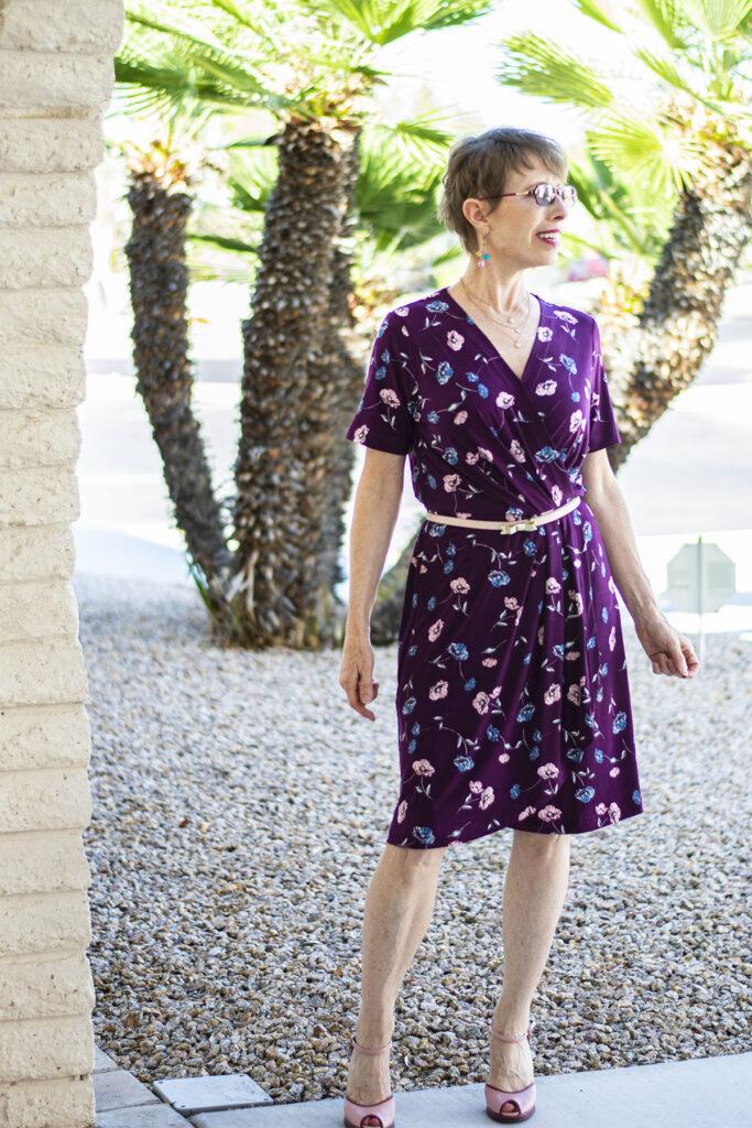 Summer dress with a belt