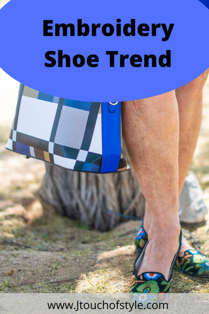 Embroidery shoe trend for any age woman