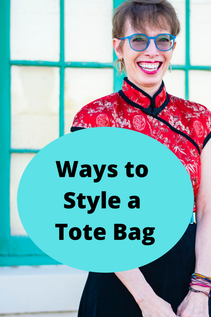 Ways to style a tote bag