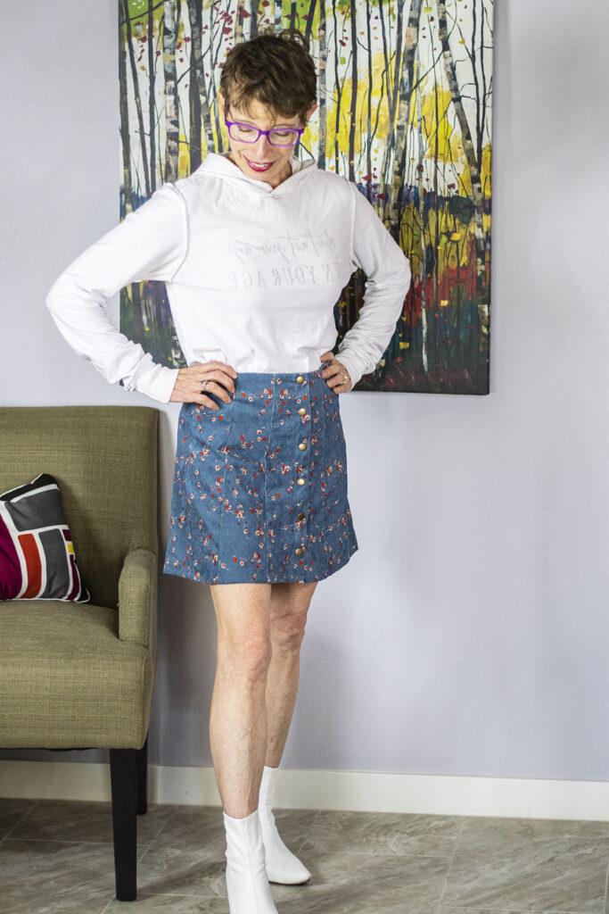 Blue skirt from Fashom box