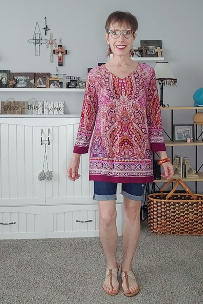 How to style bermuda shorts with a tunic