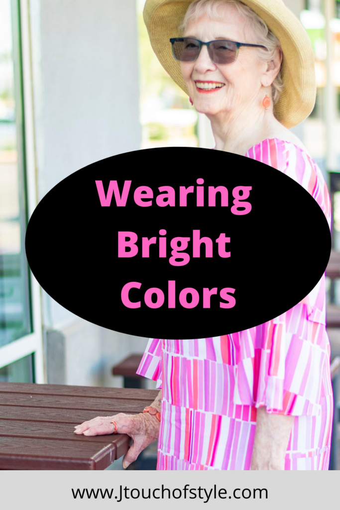 Wearing bright colors with capri pants