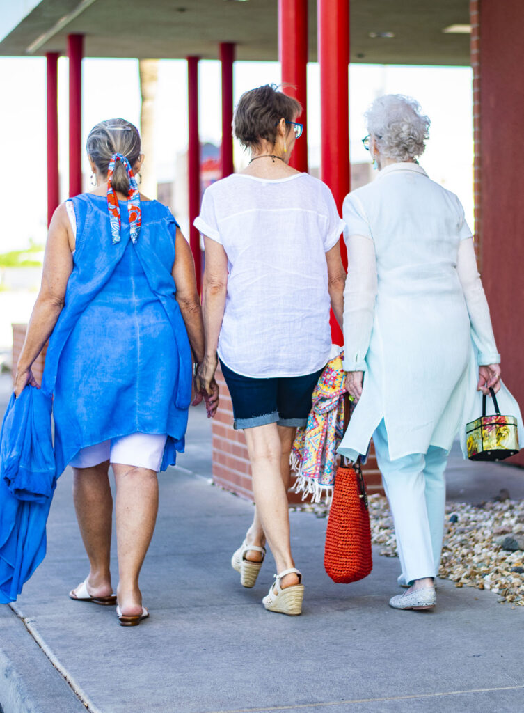 Older women in summer outfits