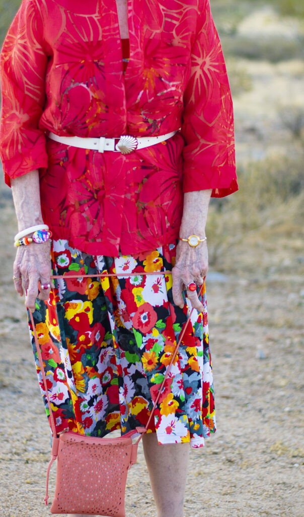 Creative styling with a maxi skirt