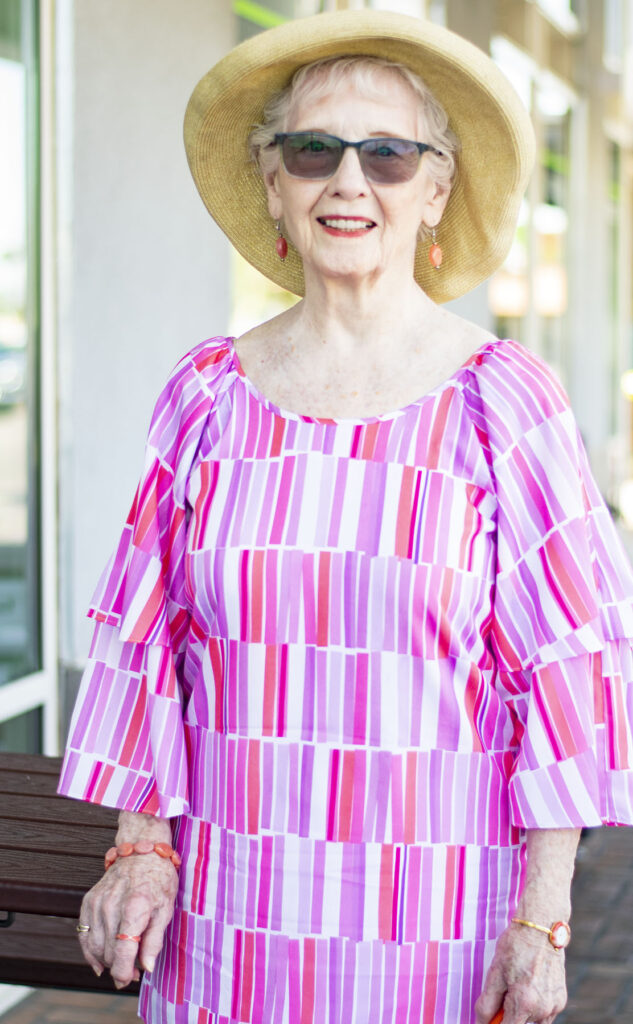 Colorful tunic for older women