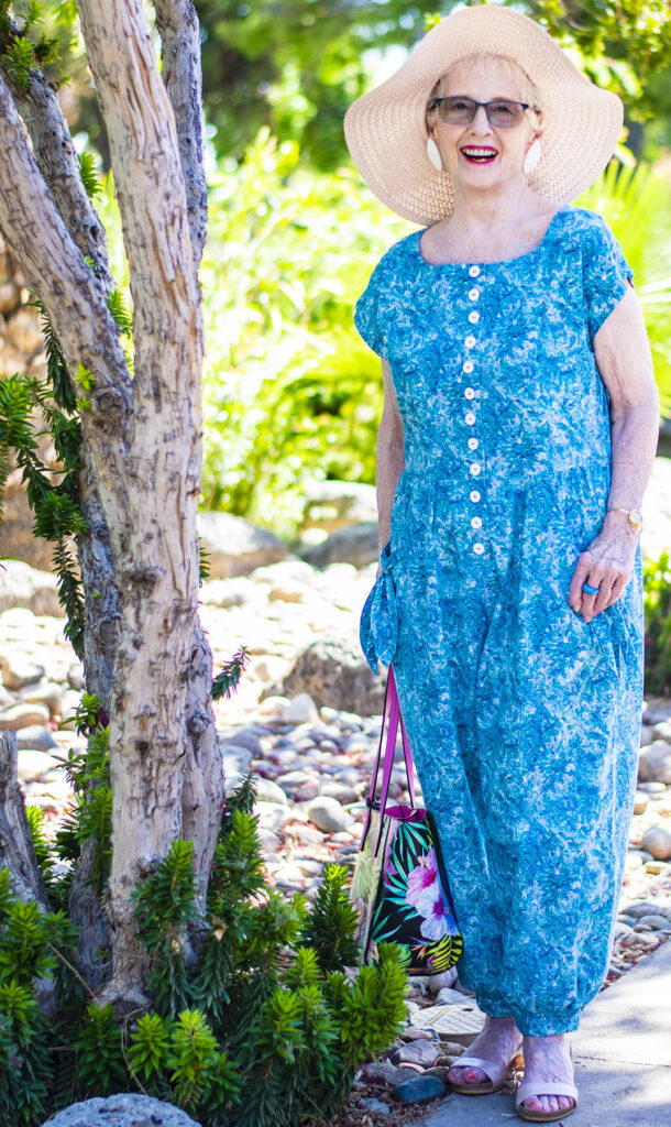 Summer jumpsuit style as resort wear for women over 50