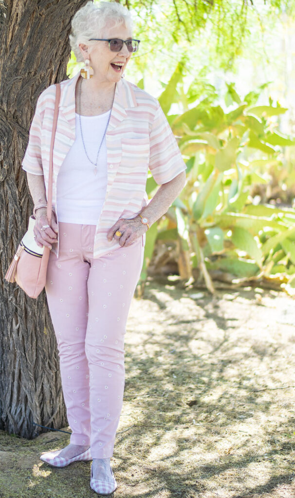 Print mixing with how to wear embroidered jeans
