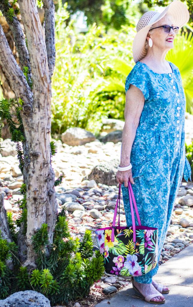 Tropical resort wear for women over 50