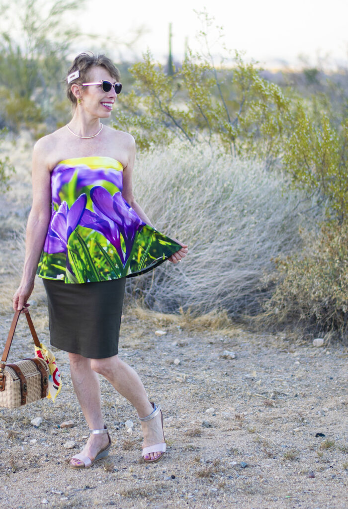 Creative style with a skirt as a strapless top