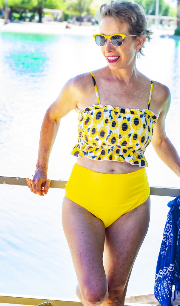 Two piece beach wear for women over 50