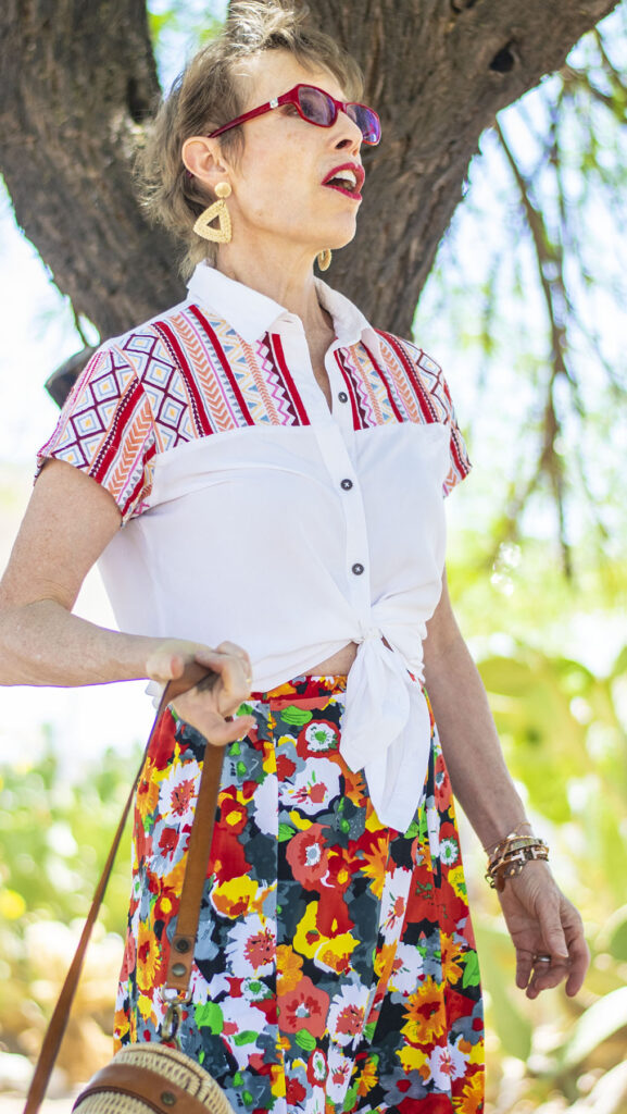 Summer style with how to style an embroidered blouse