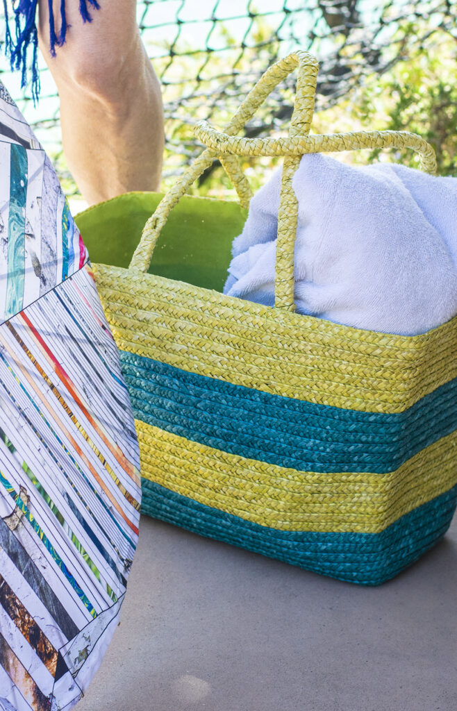 Straw tote for the beach