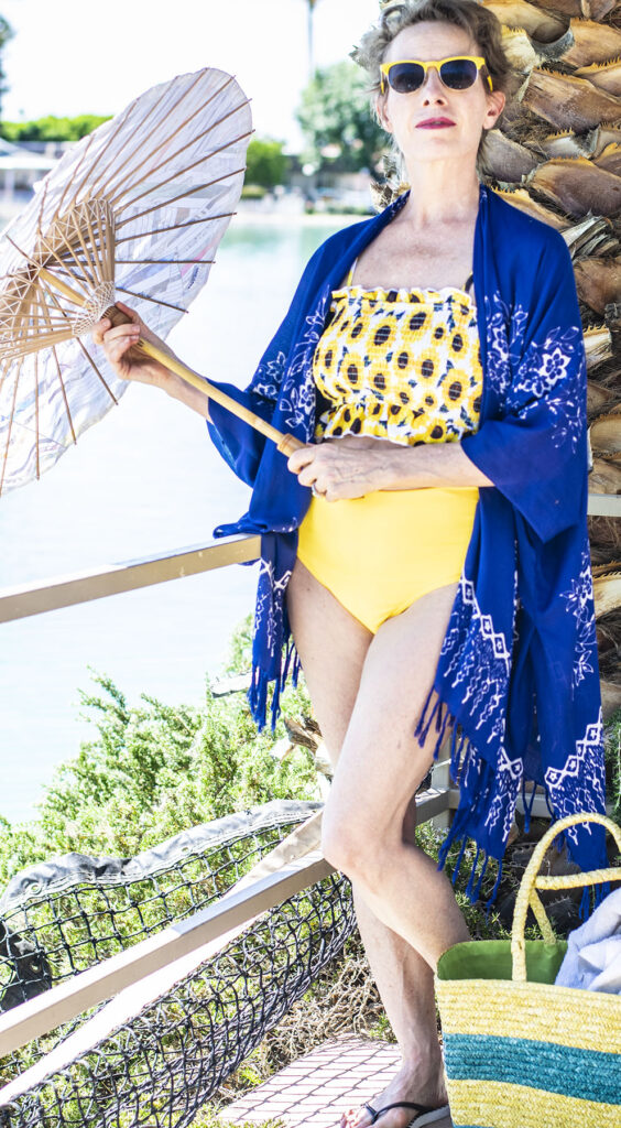 Parasol for beach wear for women over 50