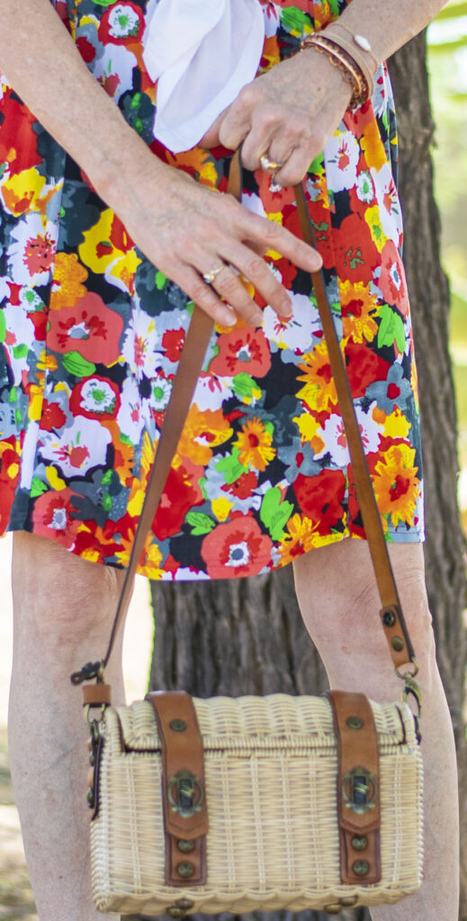 Straw purse for summer