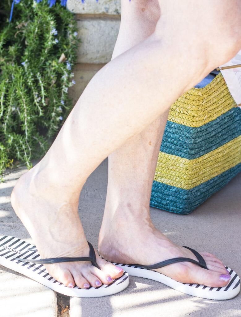 Flip flops for beach wear for women over 50