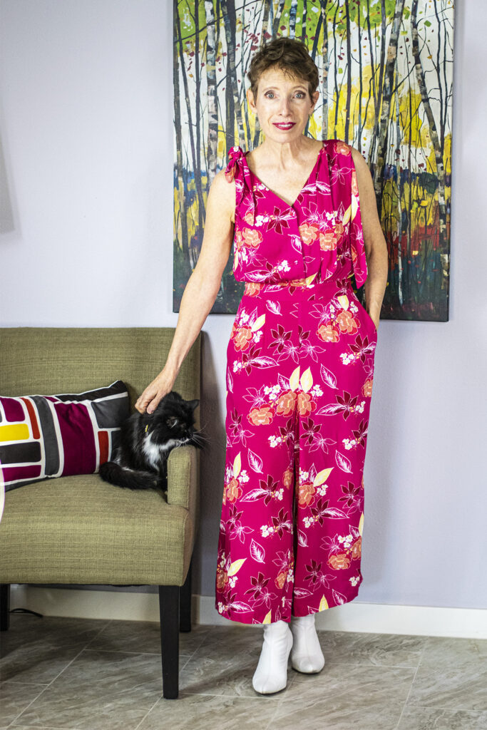 Colorful style with a jumpsuit