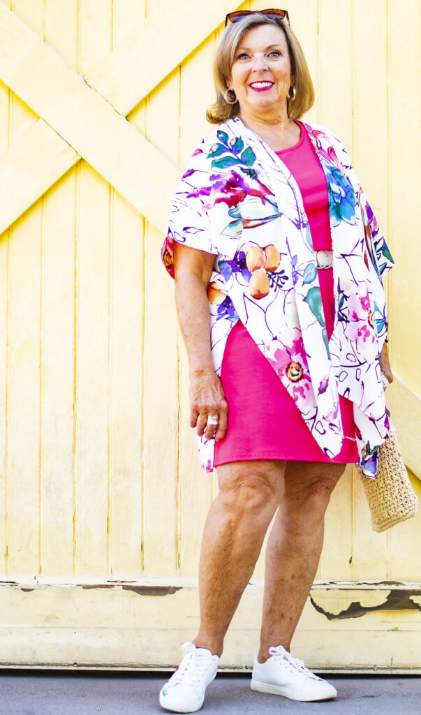 Belted dress with style a kimono