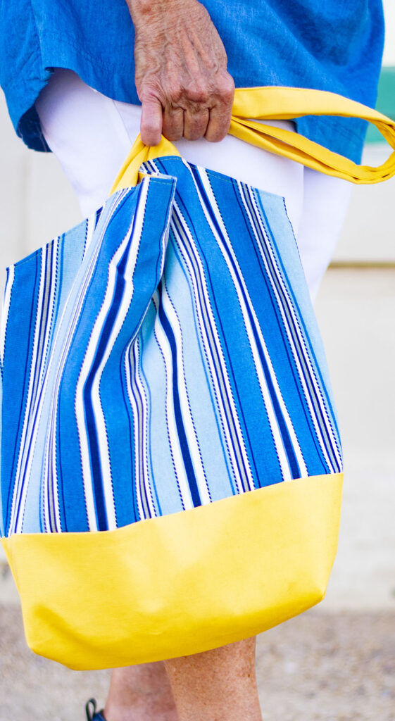 Colorful tote bag fashion