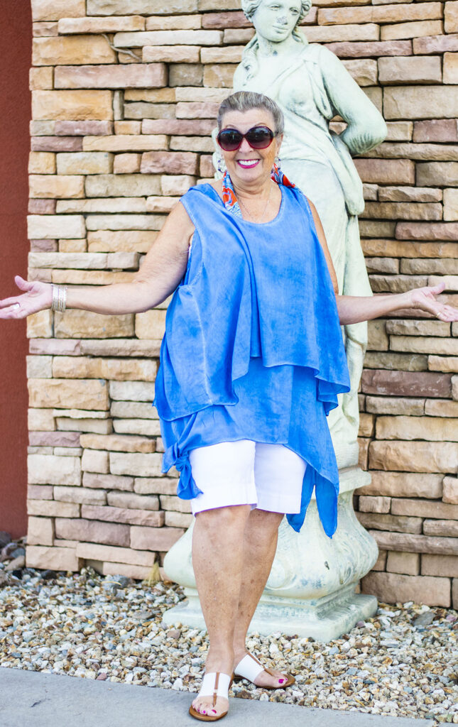 Sea Breeze tank top as two pieces