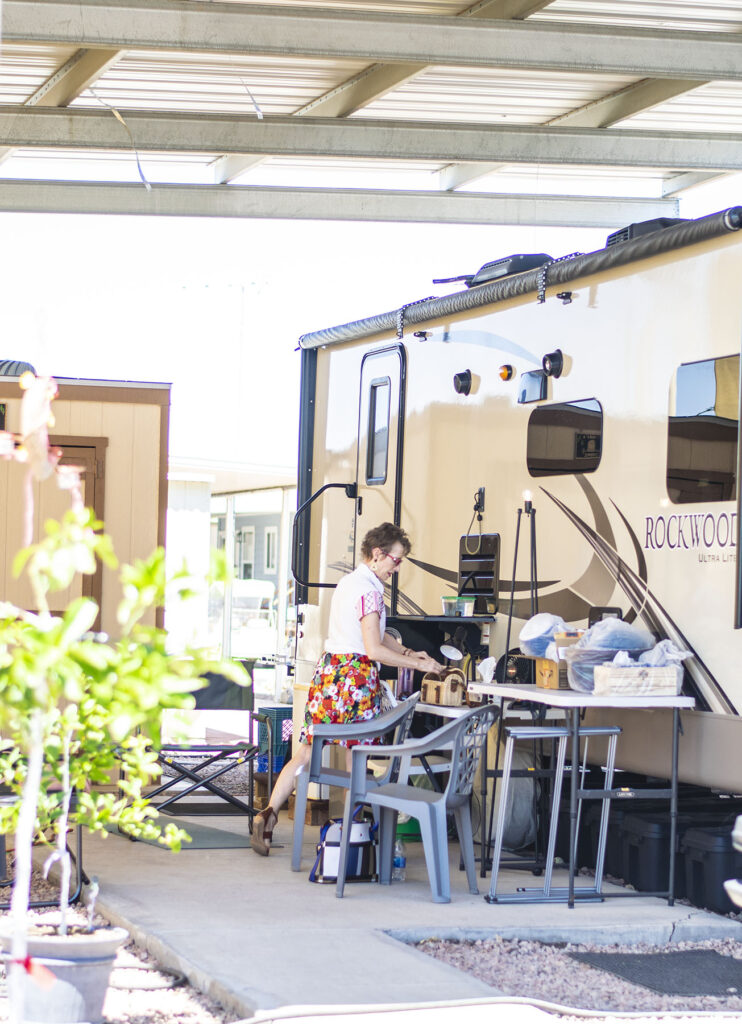 The outdoor space and living the RV lifestyle