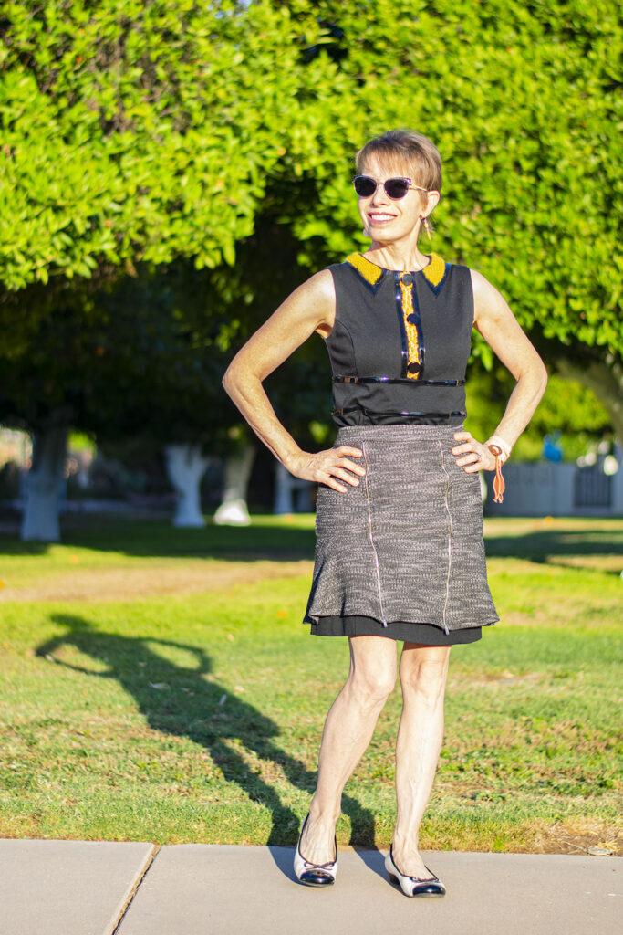 Skirt over a dress