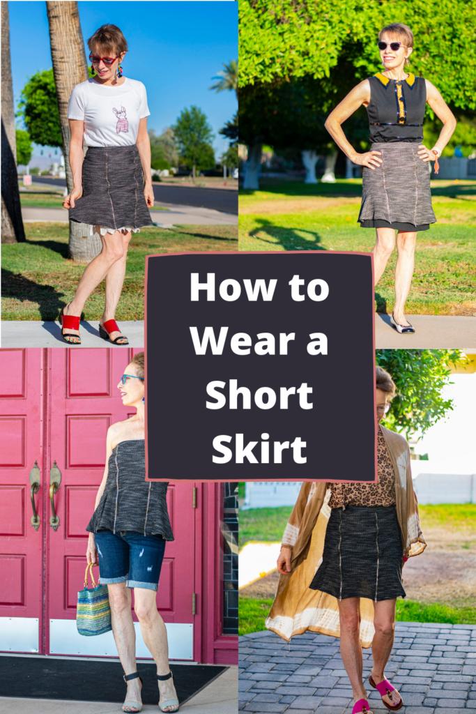 How to wear a short skirt