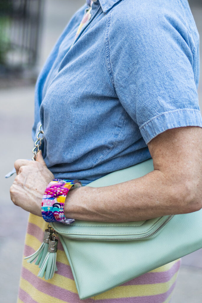 Colorful accessories for a city vacation