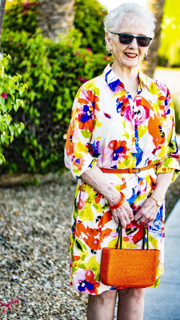 Colorful shirtdress