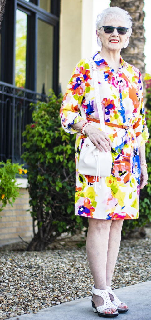Summer brights with sandals