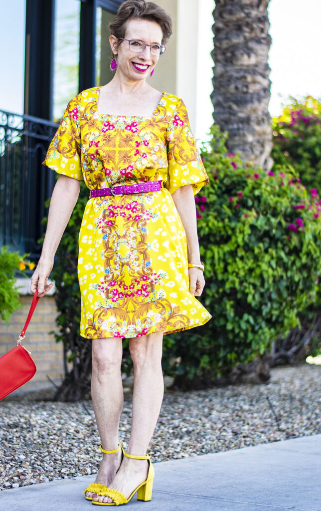 Yellow for a summer brights outfit