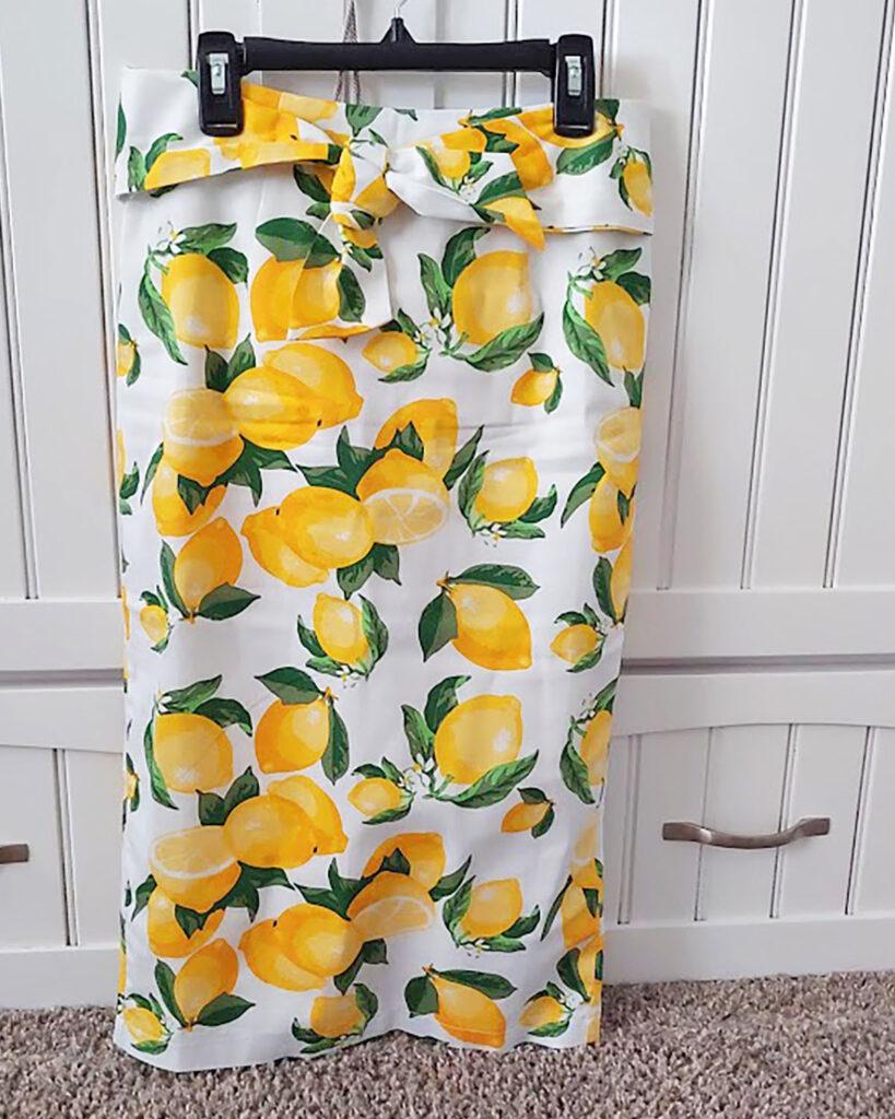 Lemon print skirt