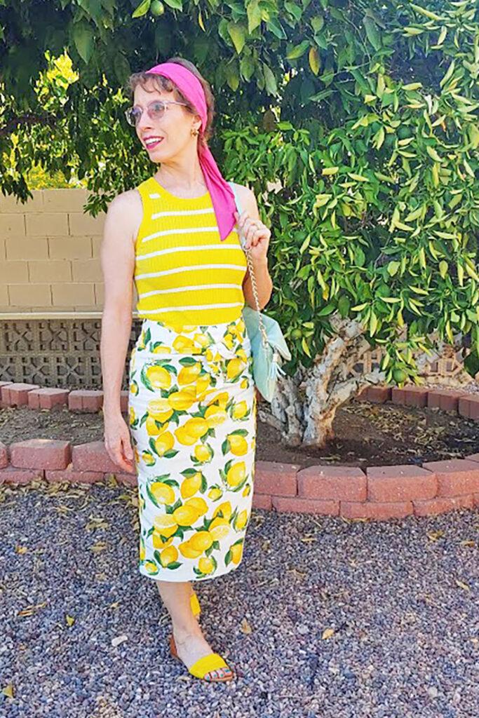 Wear a skirt over a dress