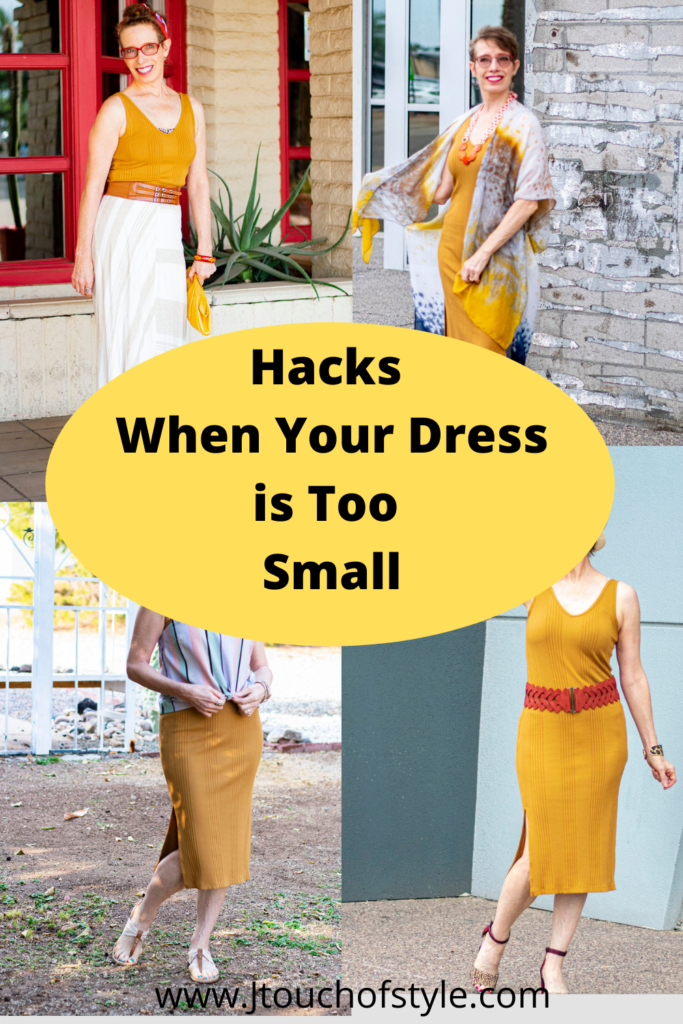 Hacks when your dress is too small