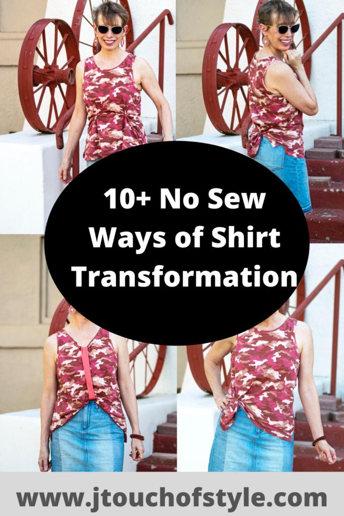 10+ no sew ways of shirt transformation