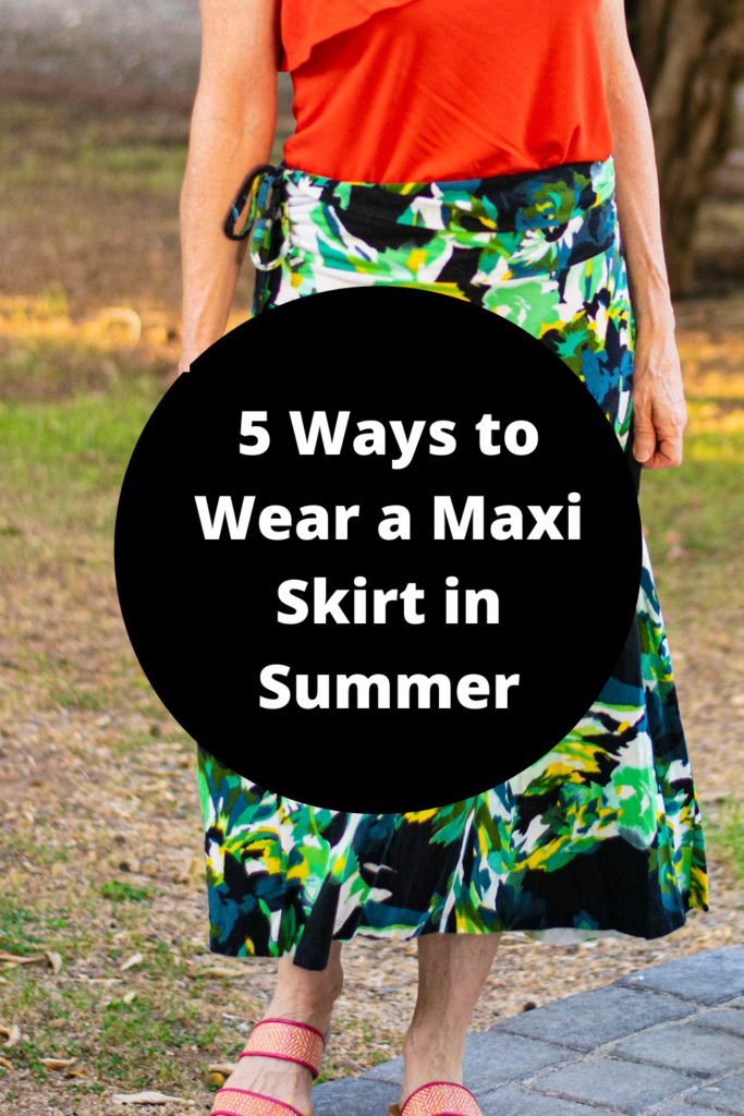 5 ways to wear a maxi skirt in summer