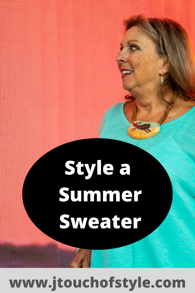 Style a summer sweater