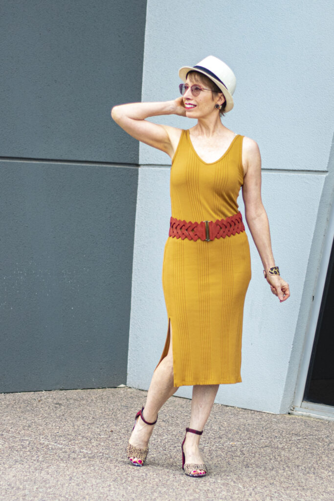 Add accessories and rock a dress that seems too small