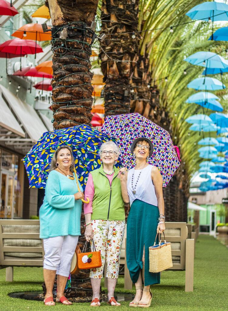 Umbrellas under umbrellas
