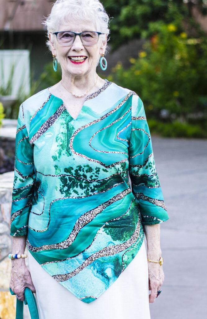 T-shirt dress style for older women