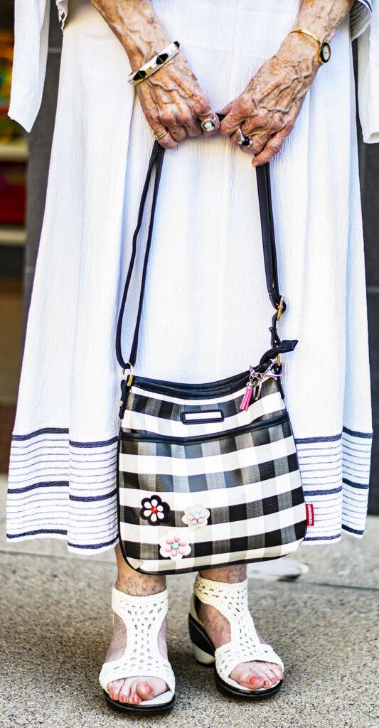 Add fun prints with a purse