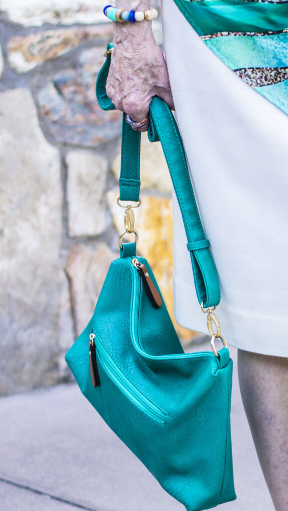 Colorful purse for a summer outfit