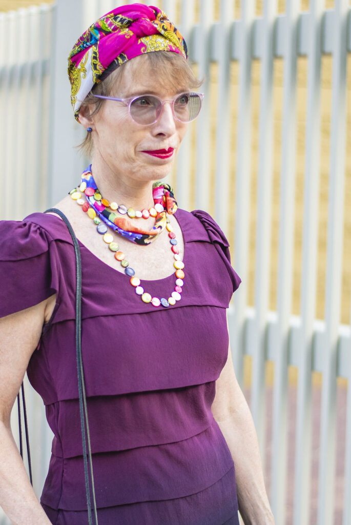 Why to wear a necklace and scarf