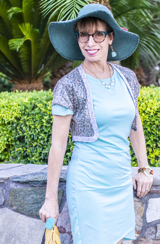 How to dress up a casual dress for women over fifty