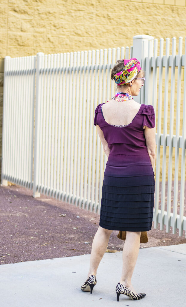 Ruffle dress for older women