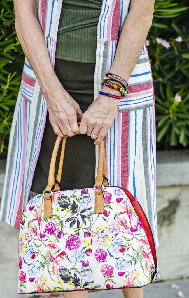 Big floral purse for petites