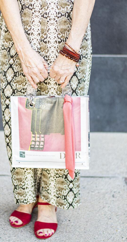 Scarf on a purse
