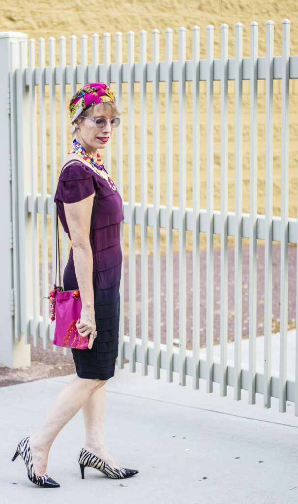 Add color to an outfit with accessories
