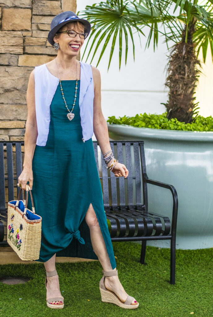 Styling a vest in summer