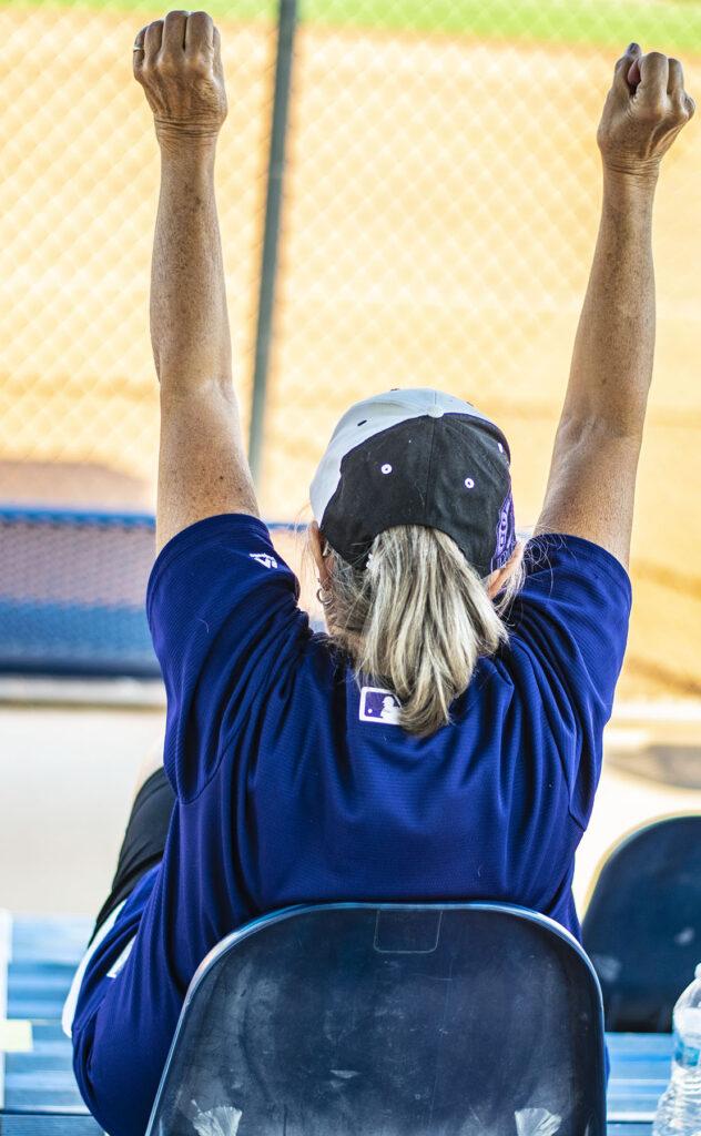 Women watching softball