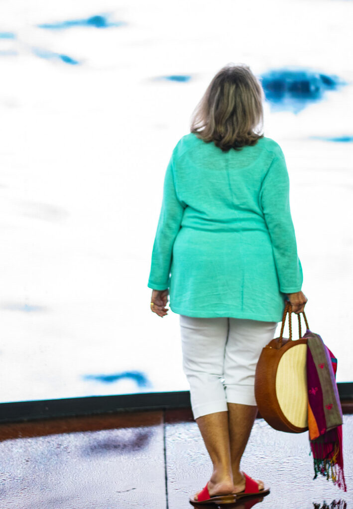 Woman over 60 in summer sweater
